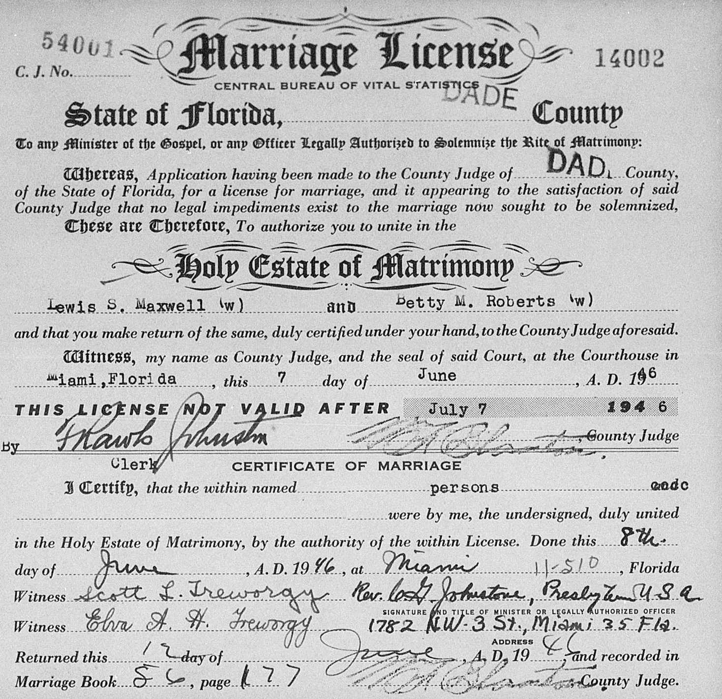 requirements for florida marriage license