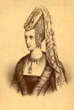 19th century engraving, after a portrait of Isabella of Portugal, Duchess of Burgundy