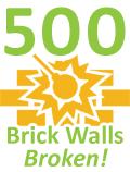 500 Brick Walls Broken