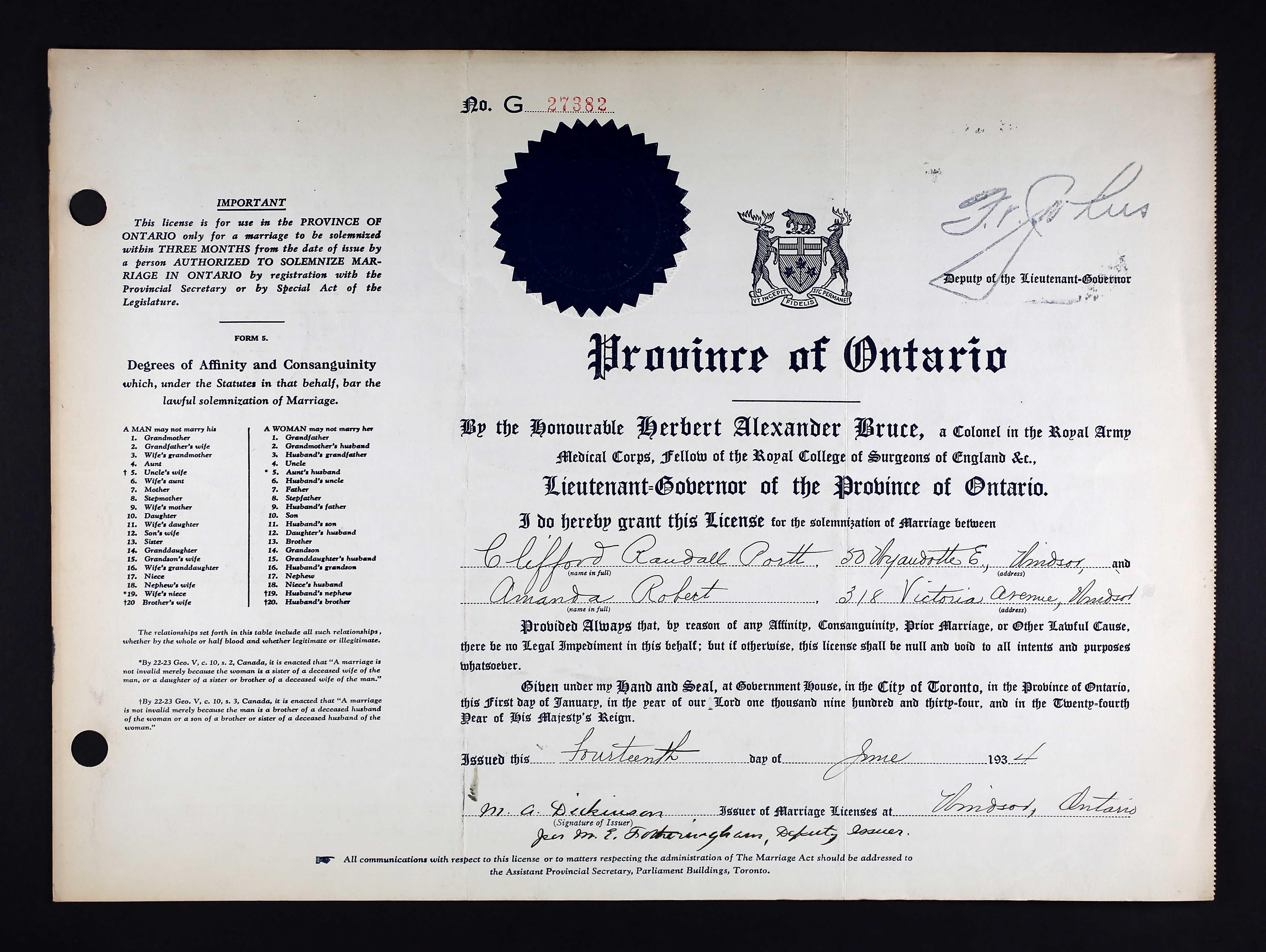 Amanda Page Real Name marriage registration - portt, clifford randall & robert
