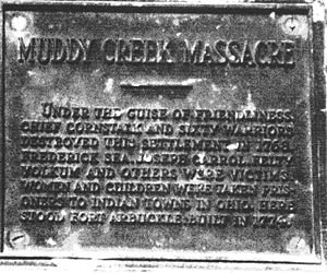 Muddy Creek Massacre Monument Showing Names of Victims
