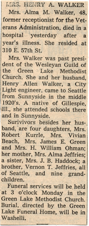 Alma May (Jeffries) Walker's obituary