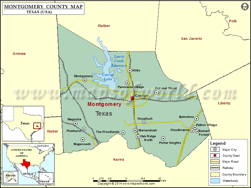 Montgomery County Map Texas