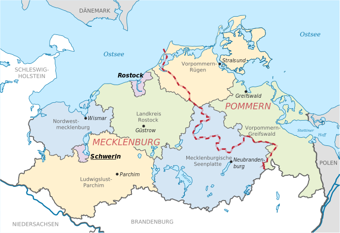 Historical Map Of Mecklenburg Germany