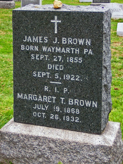 Tombstone of James and Margaret Brown