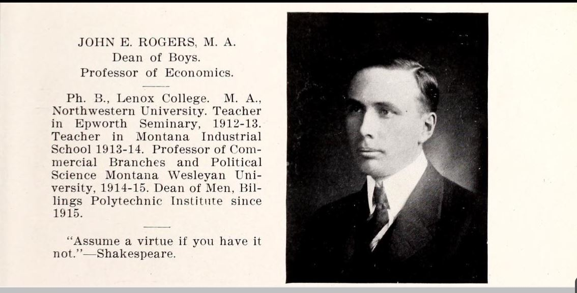 Portrait of John Rogers from The Poly Yearbook