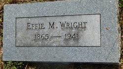 Tombstone of Effie Wright