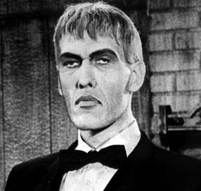 Ted Cassidy in costume as Lurch