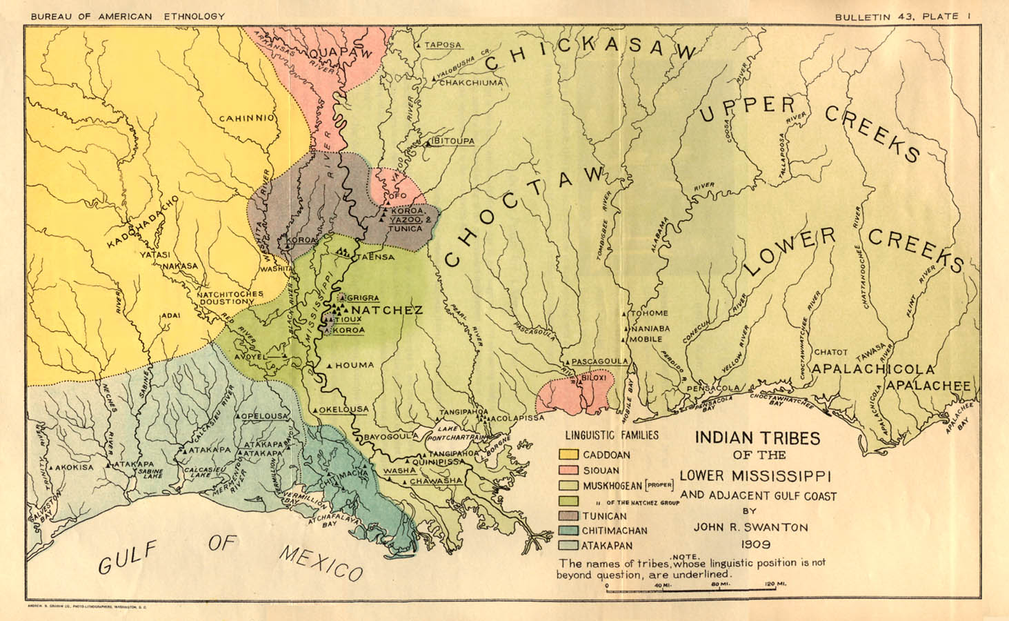 Indian Tribes Of The Lower Mississippi - Map of native american reservations in the us