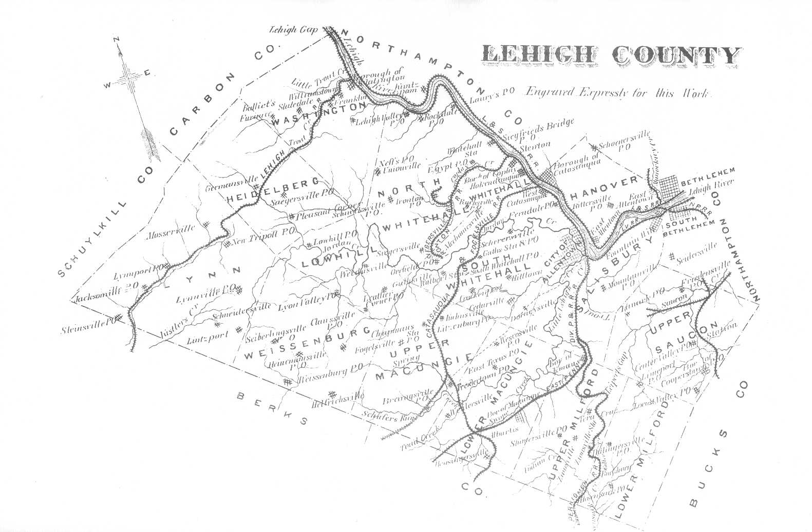 Map of Lehigh County, PA 1884 Lehigh County Pa Map on district township pa map, schuylkill haven pa map, center valley pa map, bucks co pa map, saucon valley pa map, red land pa map, schuylkill river pa map, lehigh pennsylvania map, lehigh station pa, lehigh county street map, allentown map, monocacy creek pa map, lehigh valley pennsylvania, mary d pa map, pottsville pa map, lehigh valley railroad maps, lehigh valley pa counties, slate belt pa map, french creek state park pa map, lehigh and northampton county map,