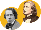 Frederic Chopin and Franz Liszt