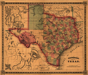 Texas Historical Map 1866