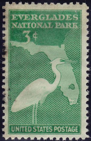 Everglades National Park 3 Cents US Postage