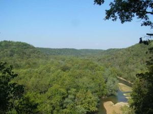 Green River Valley looking NW from Mammoth Cave National Park