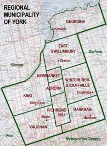 Map Of York Region York Region Settlers Map Of York Region