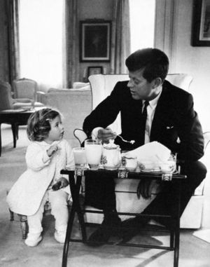 JFK having tea with Caroline