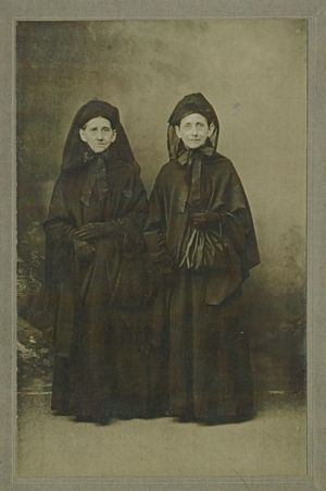 Sisters Anna Lehman and Catharine Niess in Mourning