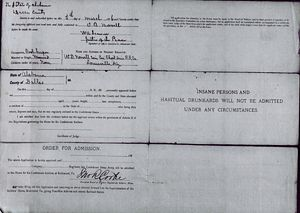 Otway B. Norvell - Appllication to Old Confederate Soldiers Home