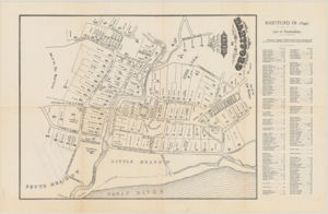 Hartford in 1640 prepared from the original records by vote of the town and drawn by William S. Porter. Image by The Connecticut Historical Society
