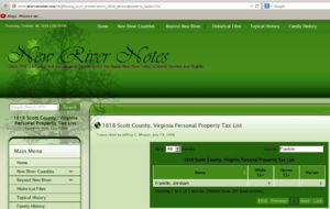 1818 Scott County, VA tax list