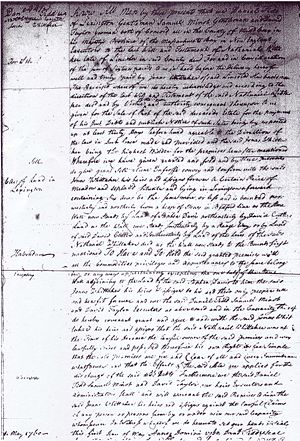 Executors of Nathaniel Whittaker Estate to Jonas Whittaker 6 Acres Lexington for 16 Pounds 01 May 1760