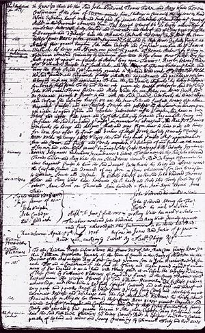 William Hartwell to Nathaniel Whittaker 42 Acres Concord 01 Apr 1706 for 38 Pounds Page 1