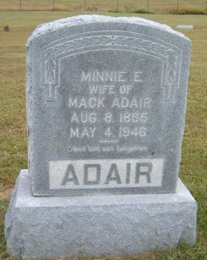 Mack and Minnie Hinkle Adair