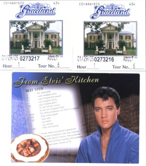 Tickets for Graceland 2005