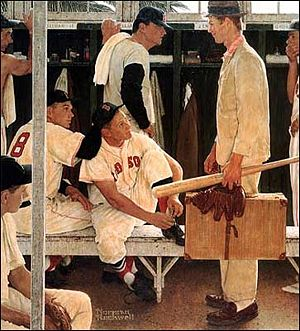 Red Sox Rookie by Norman Rockwell