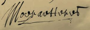 Signature of Jan Jansz van Haerlem , 'Mooratto Ries'