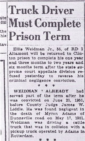 Schenectady Gazette, 08 Apr 1953, Ellis Weidman Jr.