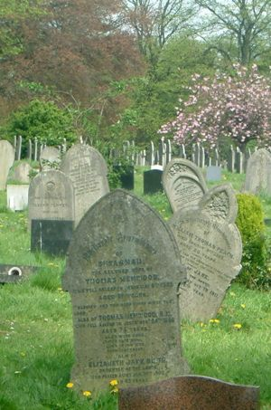 The grave of Thomas, his wife Susannah and daughter Elizabeth