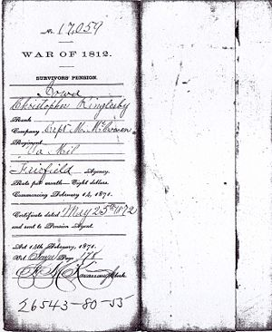 Christopher Ringlesby War of 1812 Service Records Image 2