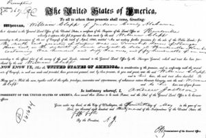 U.S. General Land Office Land Patent 1831