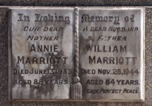 William and Annie Marriot
