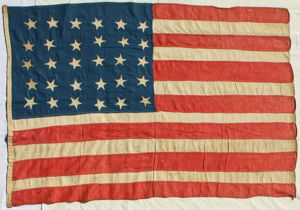 30 Star American Flag from Mexican-American War Period.