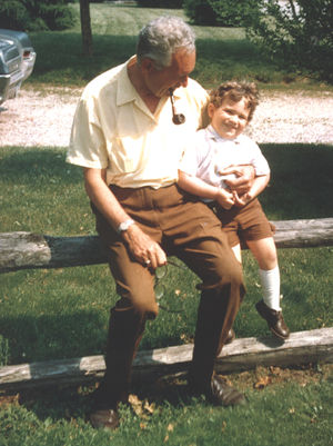 Charles Haviland with grandson Christopher Haviland