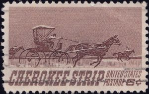 Cherokee Strip 6 Cents US Postage