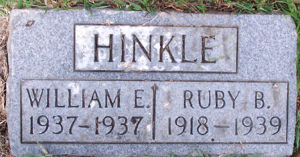 Ruby Belle Allen Hinkle and infant son William