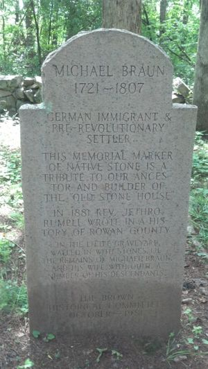 Marker for Michael Braun