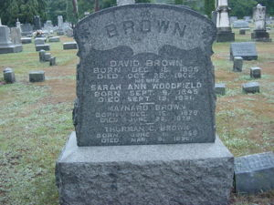 Brown Family gravestone