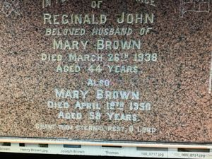 Reg and Mary Brown nee Batt