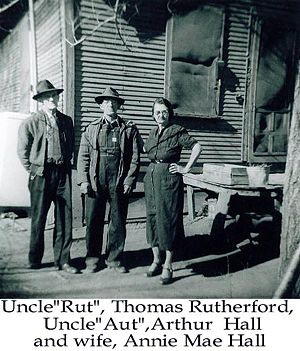 Thomas Rutherford, Arthur and Annie Mae Hall