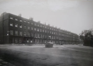 Brunswick Square before demolition in 1969.  No 54 would be on the far right.
