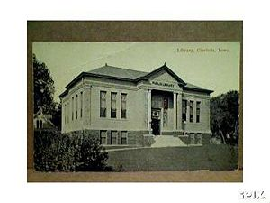 Clarinda Library Postcard 1920s