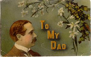 Postcard 'To My Dad'