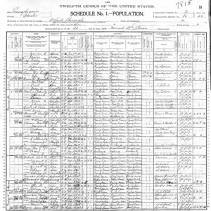 1900 US Census for Oxford, PA p. 20