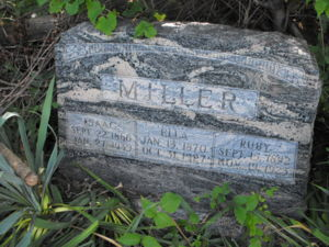 Isaac , Ella and Ruby Miller headstone
