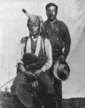 Little Priest and Henry Decorah of Co. A of the Omaha Scouts