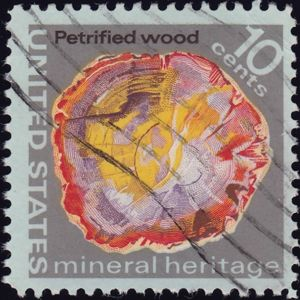Petrified wood 10 Cents US Postage